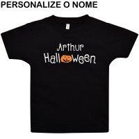 Camiseta Primeiros Passos Meu 1º Halloween Personalizado Preto