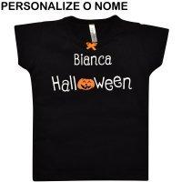Blusa Primeiros Passos Meu 1º Halloween Personalizado Preto