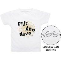 Camiseta Primeiros Passos Ano Novo Nigambi Branco Menino