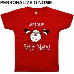 0f8d24de79 Camiseta Primeiros Passos Natal Personalizado Nigambi Vermelho