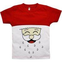 Camiseta Primeiros Passos Manga Curta Nigambi Natal Papai Noel Vermelho