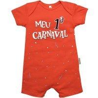 Macacão Curto Meu 1º Carnaval Nigambi Laranja