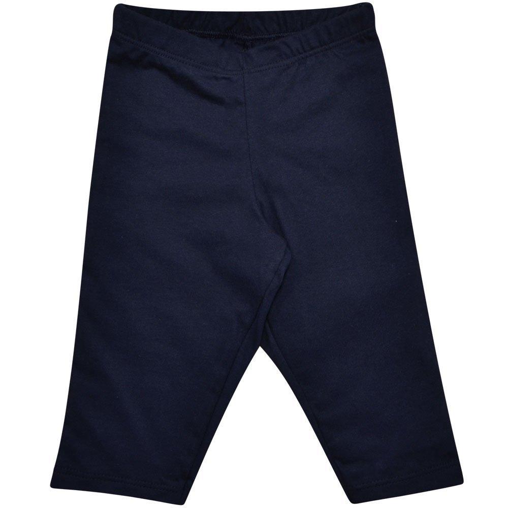 Calça Culote em Meia Malha 100% Algodão Nigambi Azul Marinho