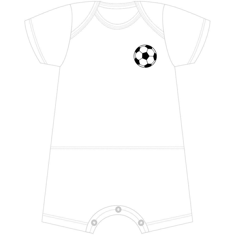 Macacão Curto Futebol Com Nome Personalizado Nigambi Branco