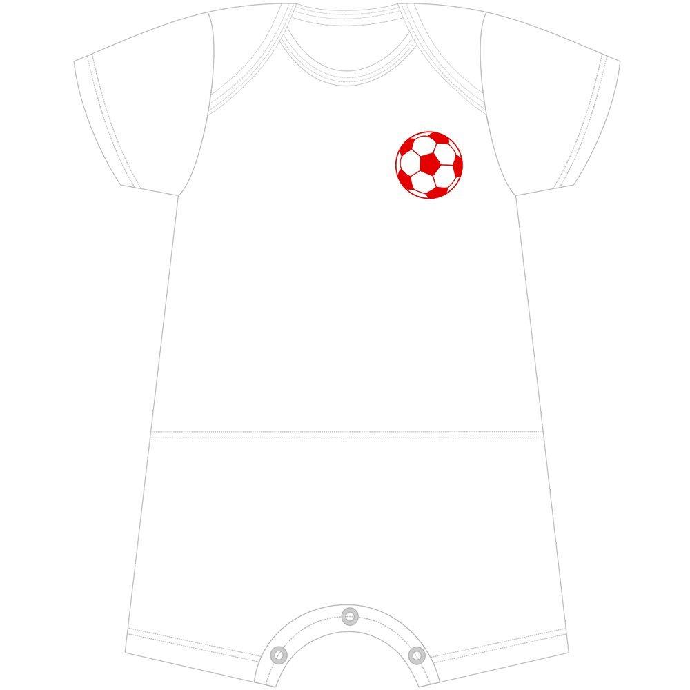 Macacão Curto Futebol Com Nome Personalizado Nigambi Branco e Vermelho