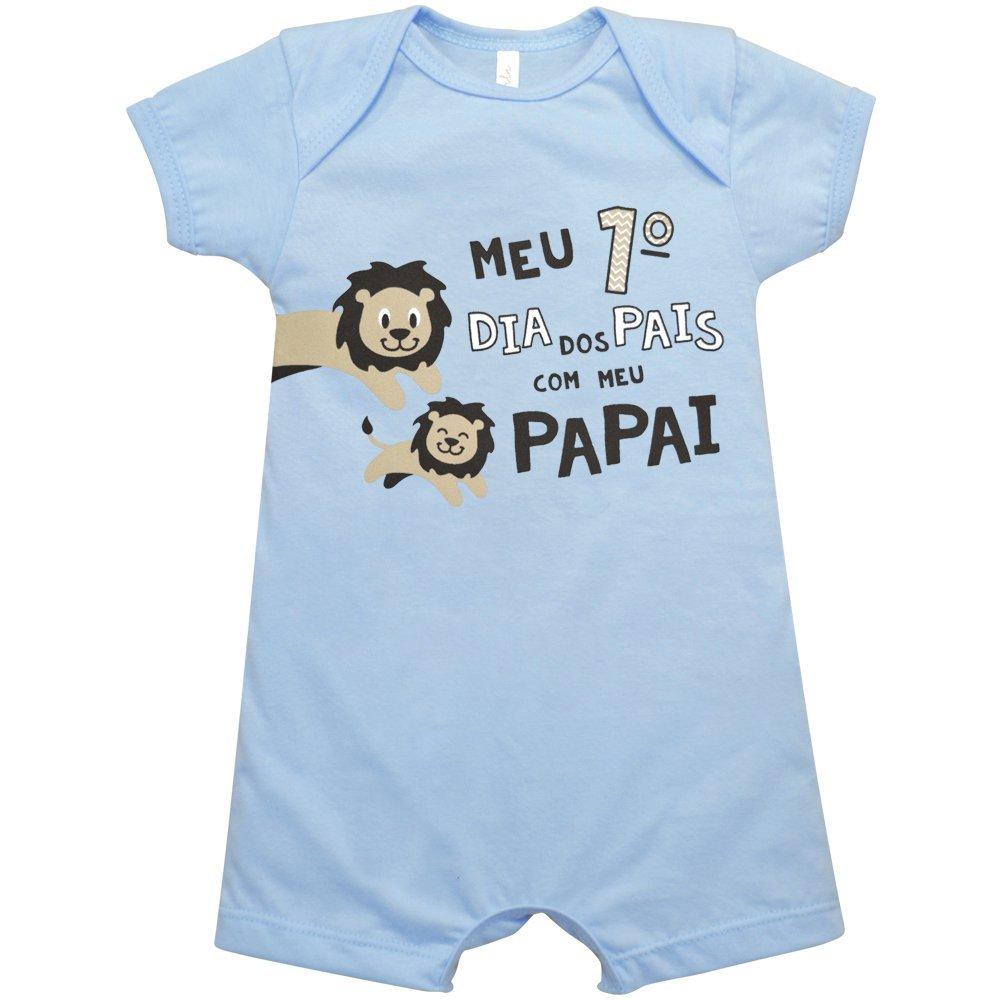 Macacão Curto Meu Nigambi 1º Dia dos Pais Azul