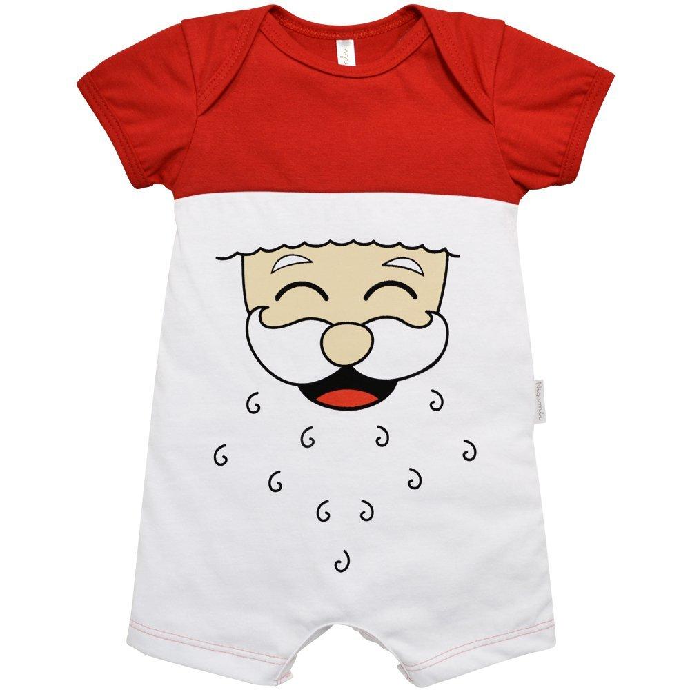 Macacão Curto Nigambi Natal Papai Noel Vermelho
