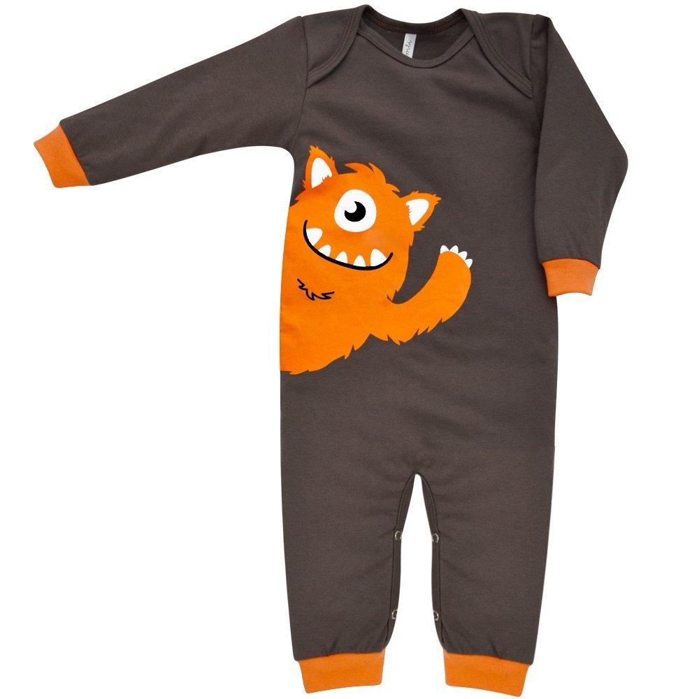 Pijama em Malha Macacão Longo Nigambi Monstrinho