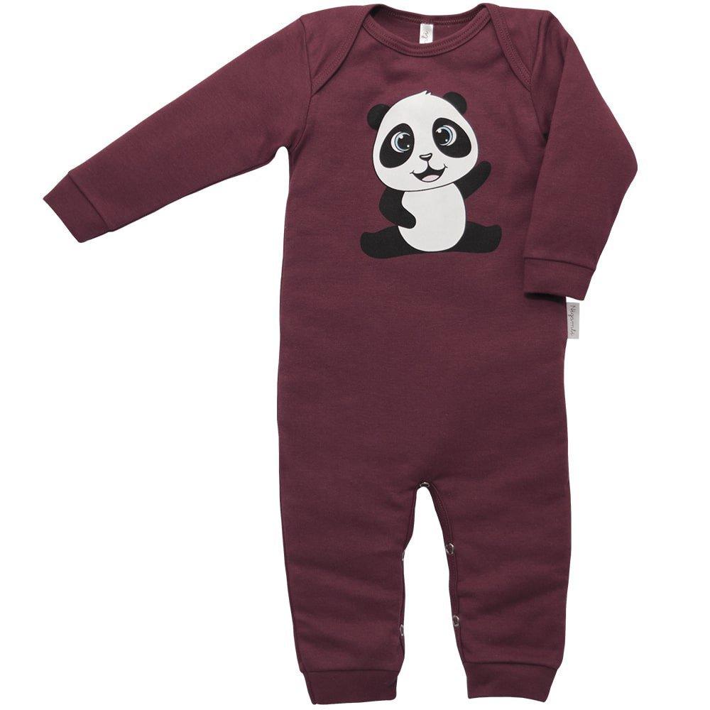 Macacão Longo Suedine Nigambi Panda Bordô