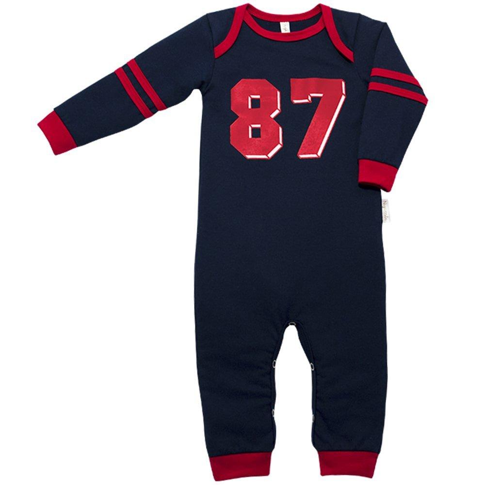 Pijama em Malha Macacão Longo Nigambi Marinho 87