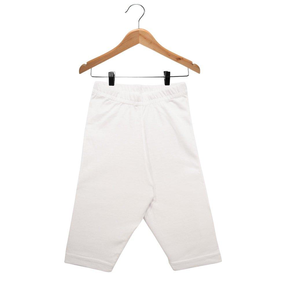 Calça Culote em Meia Malha 100% Algodão Nigambi Branco