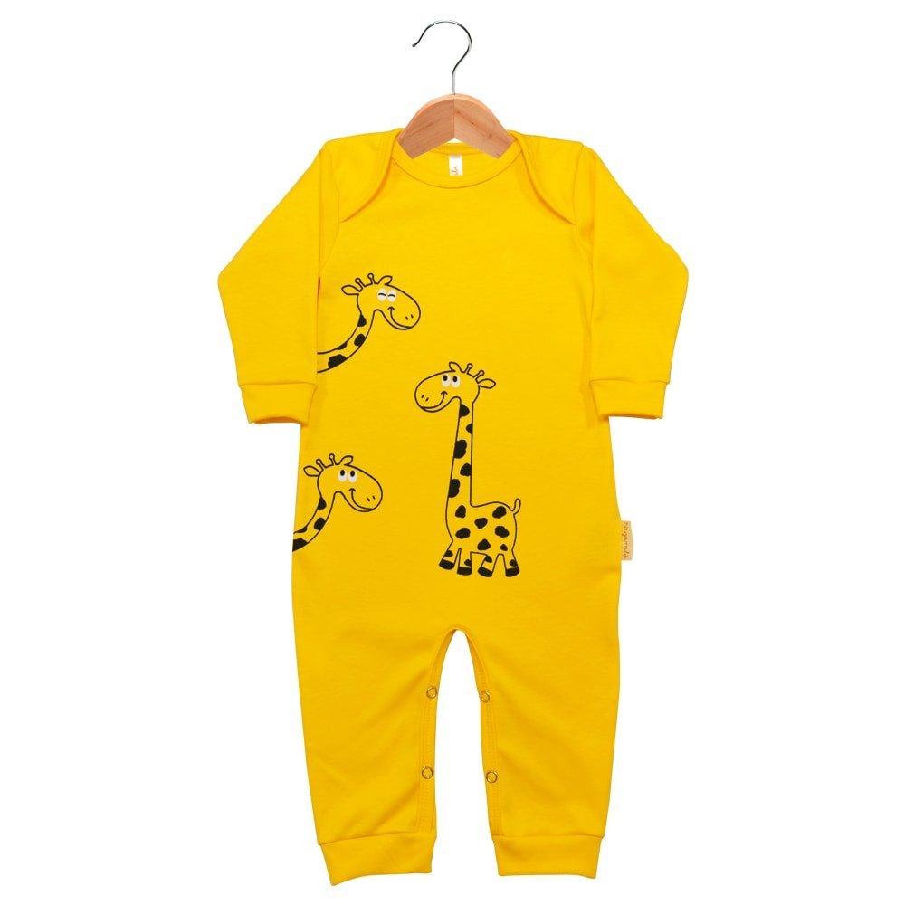 Macacão Longo Suedine Nigambi Girafinha Amarelo