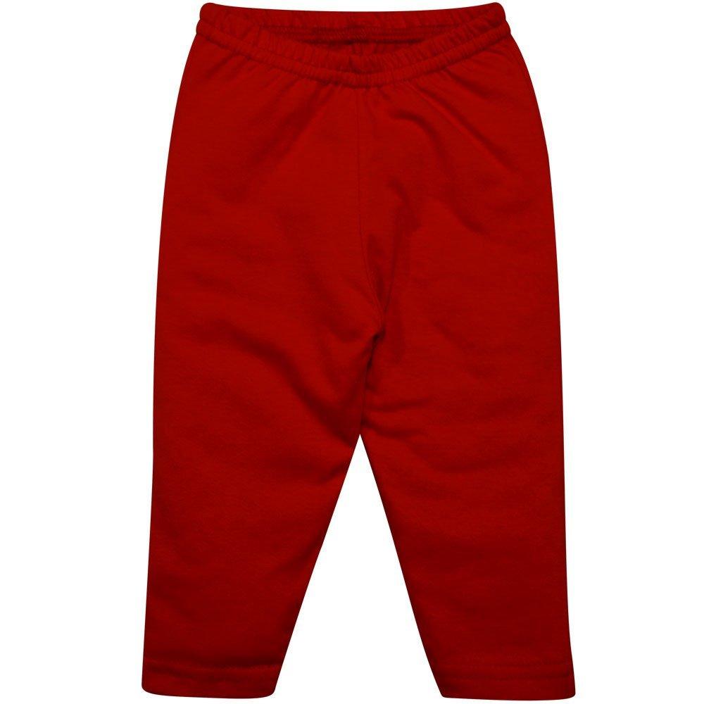 Calça Culote em Meia Malha 100% Algodão Nigambi Vermelho