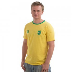 Camiseta Adulto Manga Curta Brasil Nigambi Amarelo