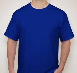 Camiseta Adulto Manga Curta 100% algodão fio 24/1 CORES XG