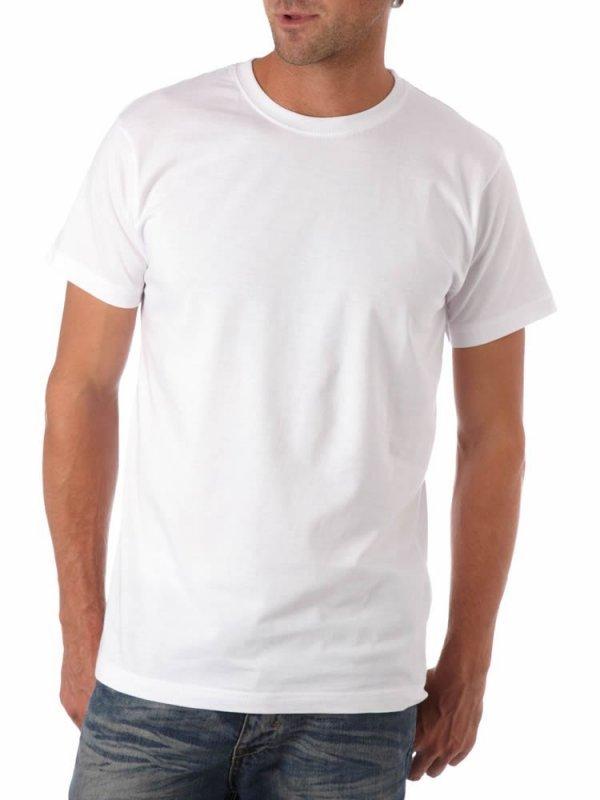 899984c6b Camiseta lisa branca algodão fio 30 adulto P M-G-GG