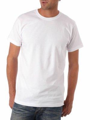 Camiseta Branca Lisa 100% algodão Fio 30 P-M-G-GG