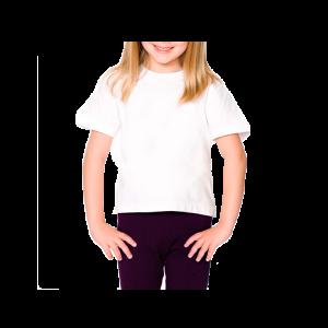 Camiseta Infantil Branca Sublimação 100% Poliéster 2-4-6-8 anos