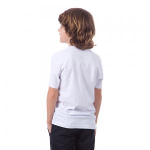 Camiseta Branca Juvenil fio 30/1 100% Algodão 10-12-14-16 anos