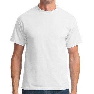 Camiseta Branca Lisa PV Malha fria  67% Poliéster 33% Viscose XG