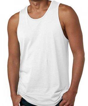 Regata Branca Masculina Física 100% algodão fio 30 P-M-G-GG
