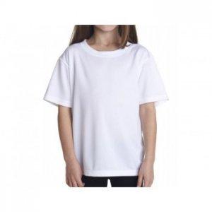 Camiseta Branca Juvenil PV 67% Poliéster 33% Viscose 10-12-14-16 anos