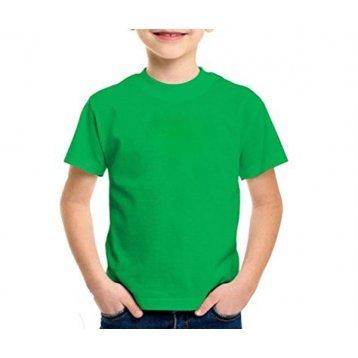 Camiseta lisa Cores 100% algodão fio 30 penteado INFANTIL 2-4-6-8 anos cb8bf859b4c