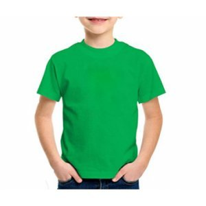 Camiseta lisa Cores 100% algodão fio 30 penteado INFANTIL 2-4-6-8 anos