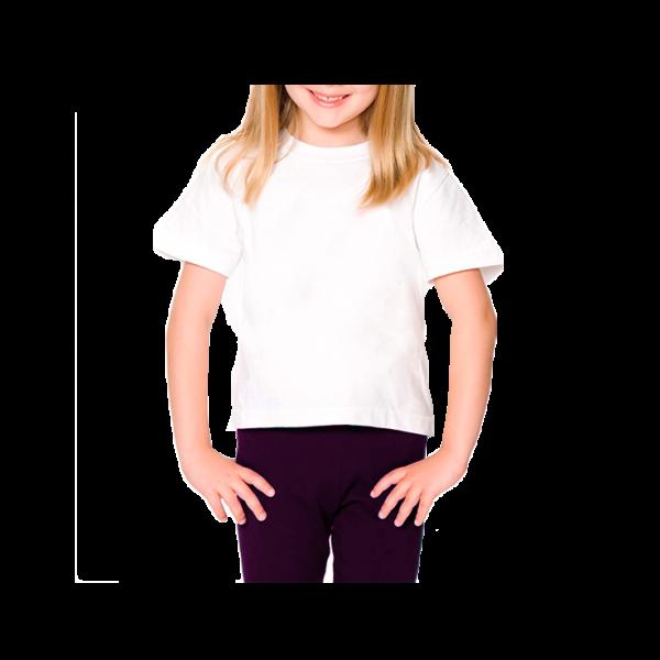 Camiseta Lisa Branca 100% algodão fio 30 penteado INFANTIL 2-4-6-8 anos 40701c00274