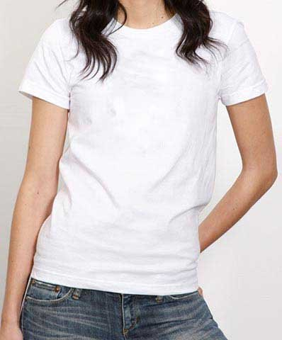 390f991a1167e Blusa Baby Look Lisa Branca 100% algodão fio 30 penteado P-M-G-GG