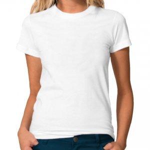Blusa Baby Look Branca Lisa 100% algodão fio 30 penteado XG