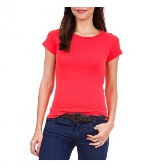 Blusa Baby Look Cores  PV 67% Poliéster 33% Viscose P-M-G-GG