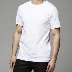 Camiseta Lisa Branca 100% algodão Fio 30 Penteado XG