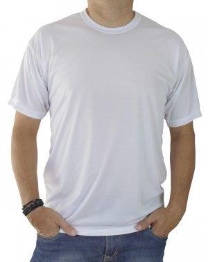 Camiseta Lisa Branca 100% algodão Fio 30 Penteado XGG