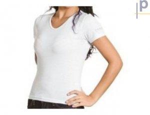 Blusa Baby Look Branca Sublimação 100% poliéster  XG