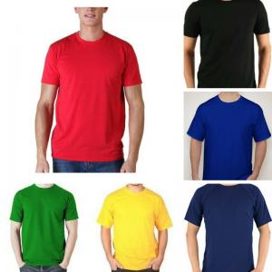 Camiseta Lisa Cores 100% algodão fio 24/1 P-M-G-GG