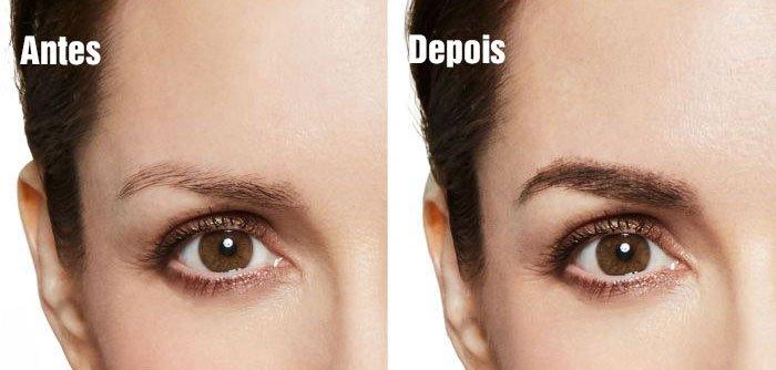 Macosi - Maquiagem para sobrancelhas - Antes e Depois