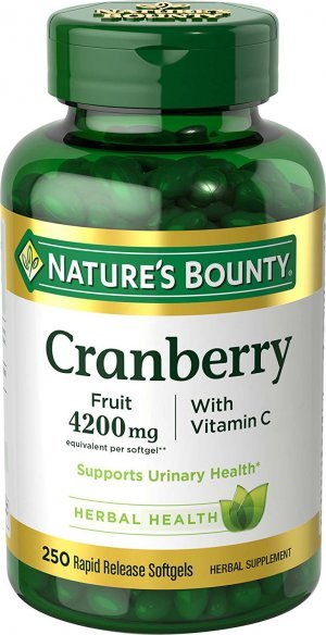Cranberry Natures Bounty 250 Softgels 4200mg Vitamina C/E
