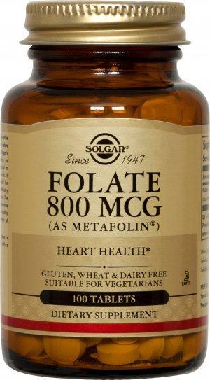 Metil Folato Solgar 800 Mcg 100 Tabletes