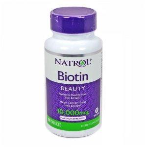 Biotina Natrol 10.000mcg 100 Cápsulas