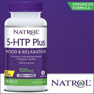 5-HTP Natrol 100Mg Plus C/ Cálcio, Vit B6 e B12, 150 Tabletes