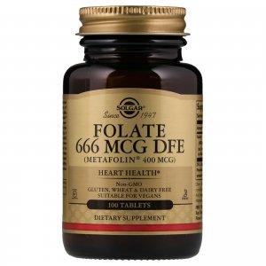 Metil Folato Solgar 400 Mcg 100 Tabletes