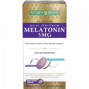 MELATONINA 5MG BI-LAYER NATURE'S BOUNTY - 60 COMPRIMIDOS