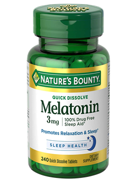 Melatonina 3mg Nature's Bounty 240 cápsulas (Quick Dissolve)