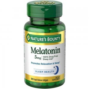 Melatonina 5mg Nature's Bounty 90 cápsulas (Rápida Absorção)