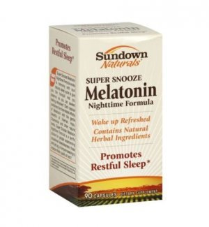 Melatonina Sundown Naturals Super Snooze 5 mg - 90 Cápsulas