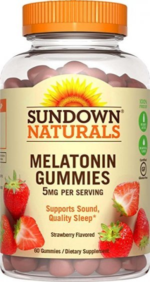 MELATONINA SUNDOWN NATURALS GUMMIES 5 MG 60 GOMAS DE MORANGO