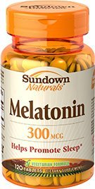 MELATONINA SUNDOWN NATURALS 300 MCG 120 TABLETS