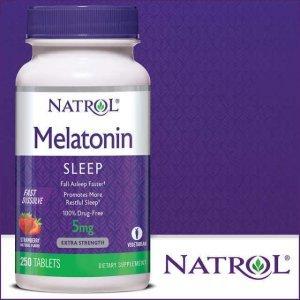 Melatonina Natrol 5mg, 250 Tablets Fast Dissolve (Nova Embalagem)