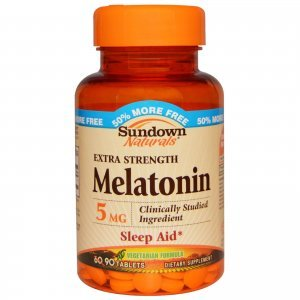 MELATONINA SUNDOWN NATURALS EXTRA STRENGHT 90 COMP/5MG - Sleep Aid